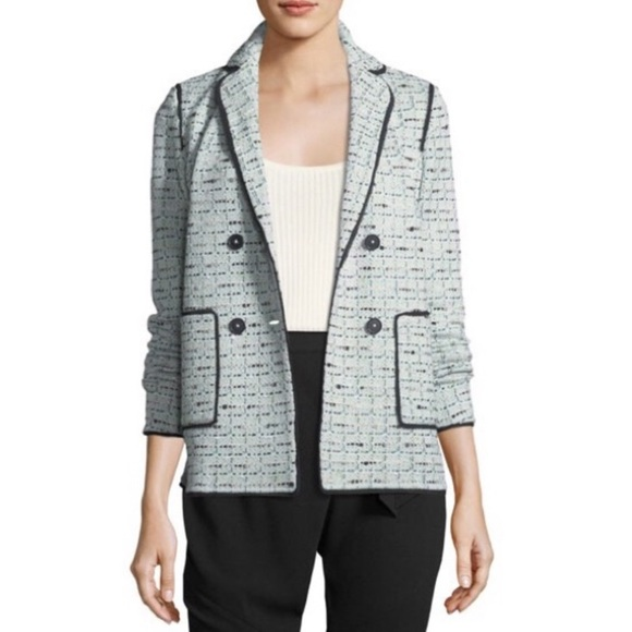 St. John Adriana Tweed Double Breasted Jacket
